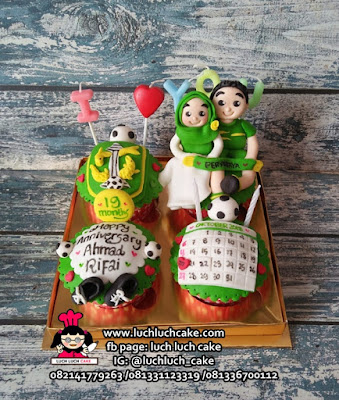 Cupcake Ulang Tahun Tema Persebaya