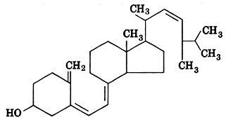 Fórmula estrutural plana da Vitamina D2 (Calciferol)