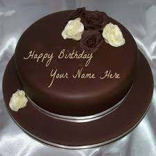 Top Birthday Cake With Name