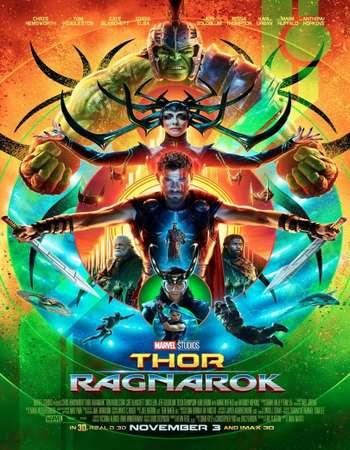 Poster Of English Movie Thor Ragnarok 2017 Full HDCam Movie Free Download Watch Online