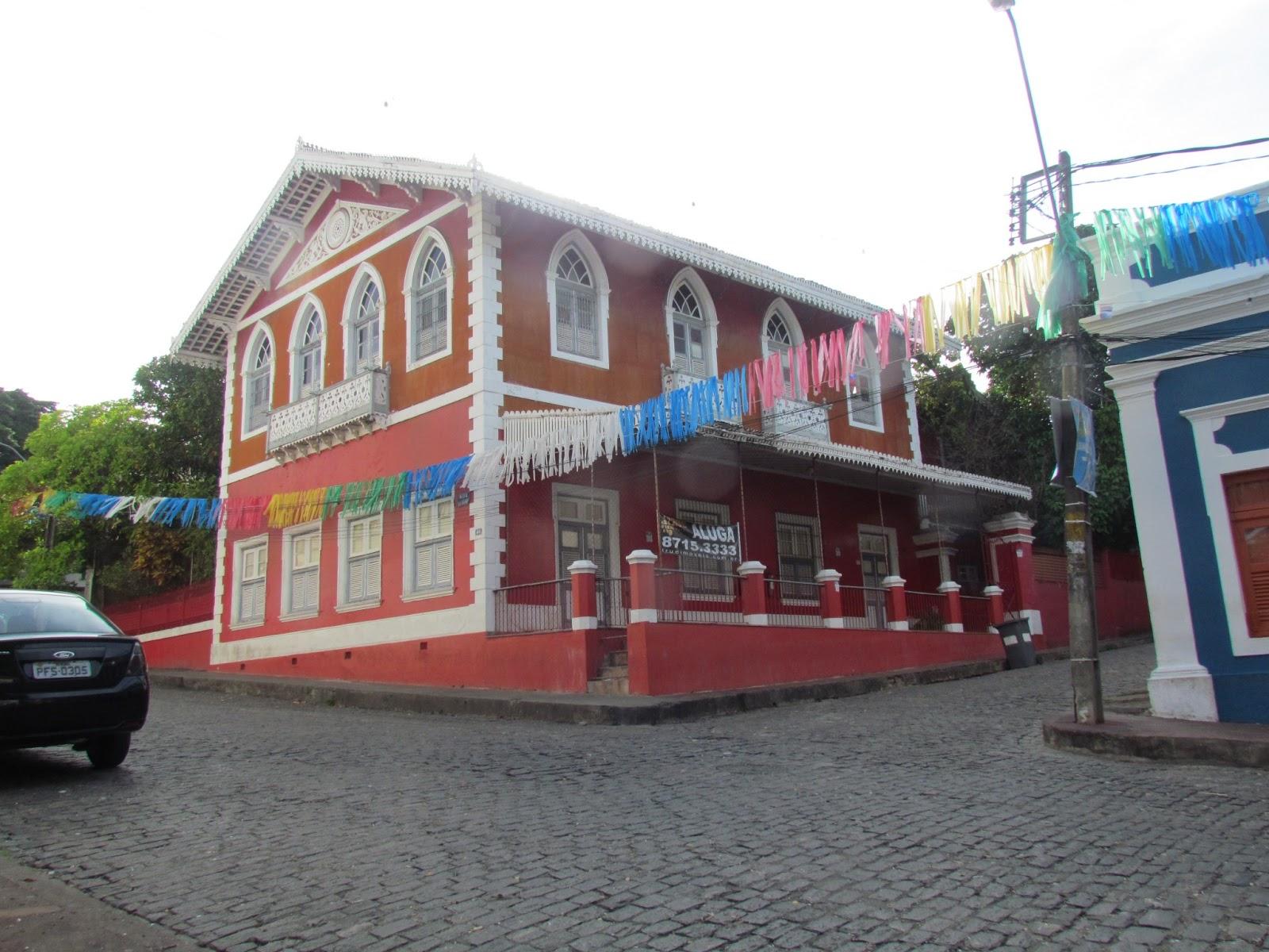 Casa mostra poder aquisitivo do dono na época Brasil colonia Olinda PE
