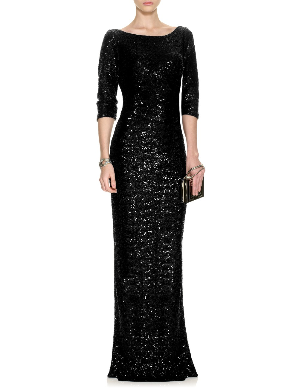 Azzaro Black Sequin Dress on Avenue 32