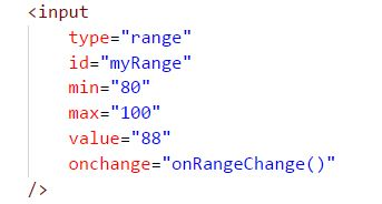 Range Slider Uisng Javascript and CSS for changing the selected part
