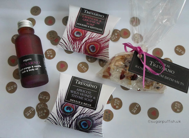 Natural and Organic Wedding Favours Trevarno soap body oil bath salts