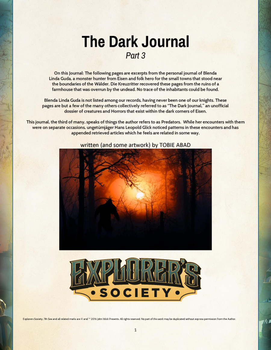 The Dark Journal - Part 3
