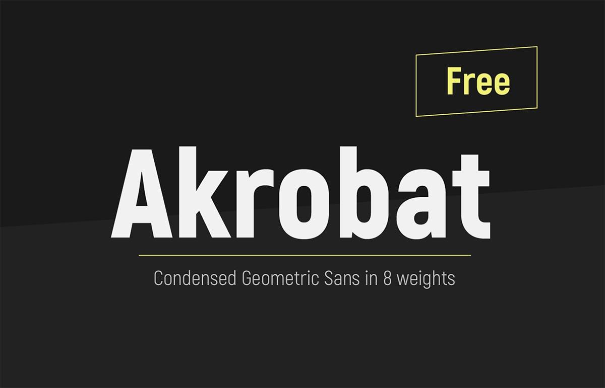 Font gratis terbaru - Akrobat Typeface