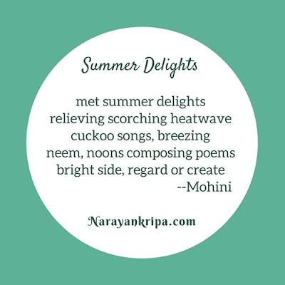 Poster for April Poetry Month Day 8 Poem: Tanka -- Summer Delights