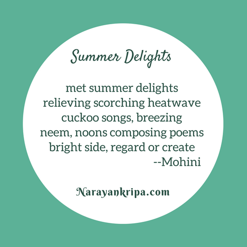 Poster for April Poetry Month Day 8 Poem: Tanka -- Summer Delights