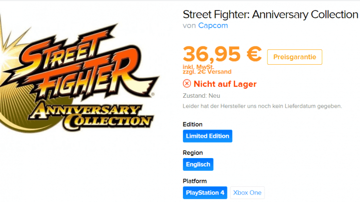 Se filtra Street Fighter: Anniversary Collection para PS4 y ONE
