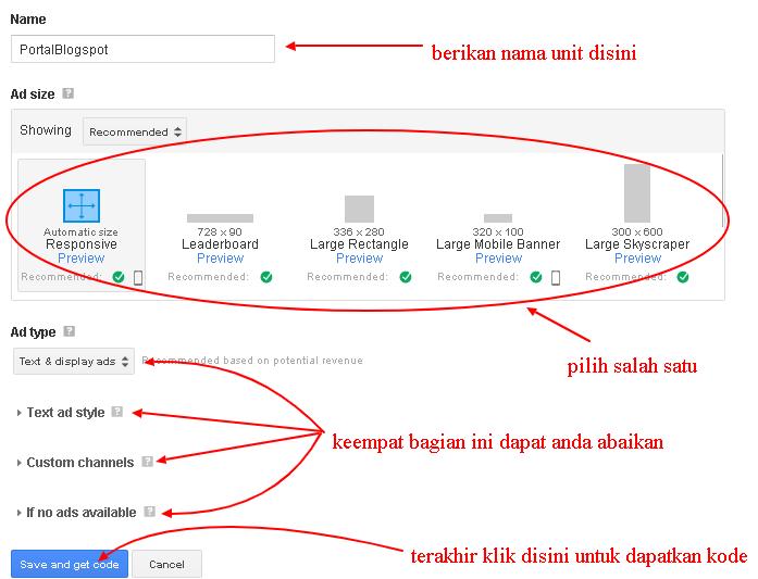 Cara mendapatkan Kode Iklan Google Adsense
