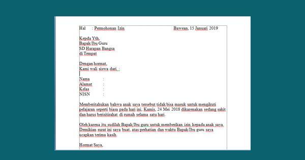 Contoh Surat Izin Sekolah Islam