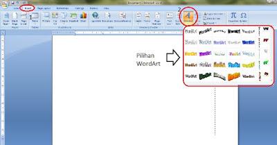 Cara Membuat WordArt Pada Microsoft Word 2007