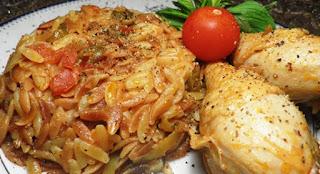 Mushroom Kebab with Chicken (Tavuklu Mantar Kebabi)