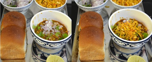 how to assemble/serve misal pav