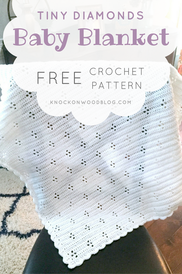 Knock On Wood Tiny Diamonds Baby Blanket Pattern