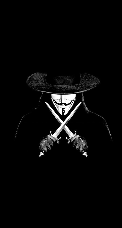 V For Vendetta Man With Knifes  Galaxy Note HD Wallpaper