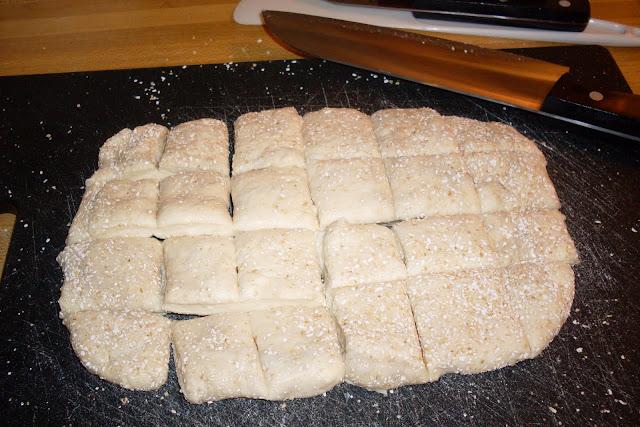 Homemade Monkey Bread, uses homemade stored dough.