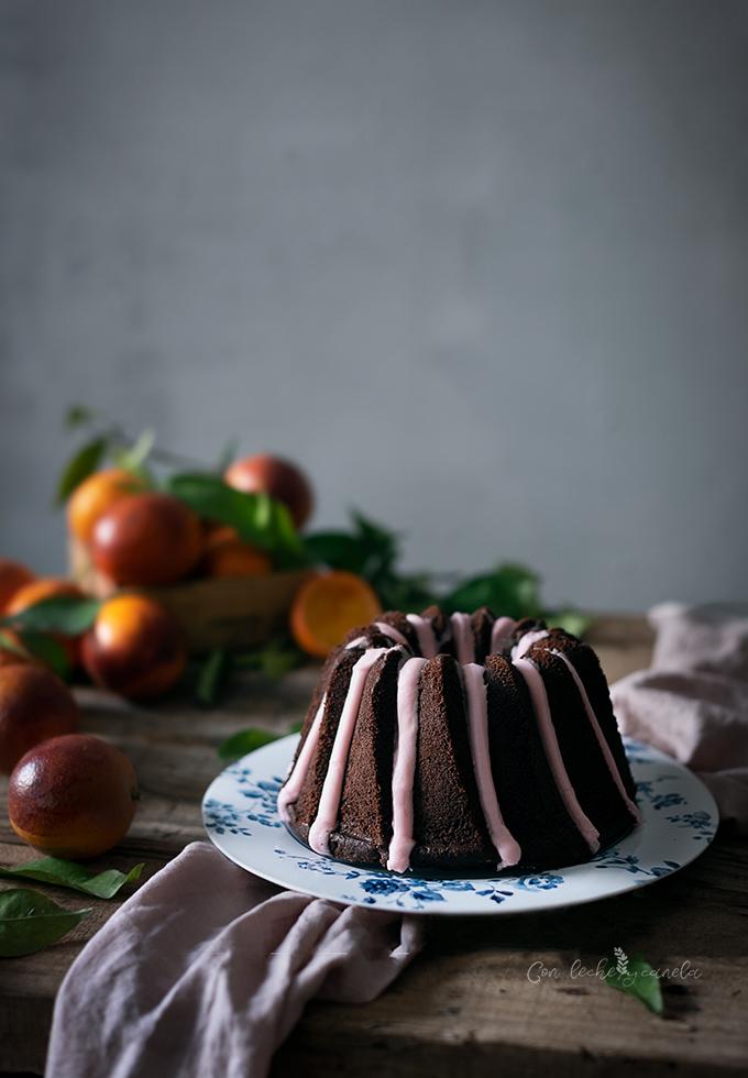 bundt cake de chocolate y naranja sanguina receta