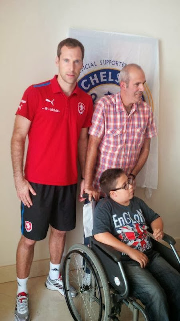 Pictures: Petr Cech met Chelsea fans in Malta during last week's international match with the Czech Republic