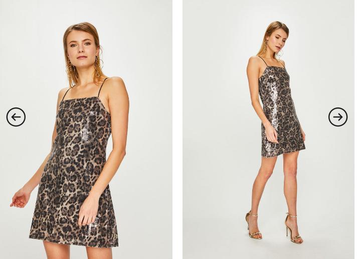 Answear - Rochie Animal print scurta eleganta si ieftina