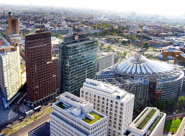 vista aérea da Potsdamer Platz, Berlim