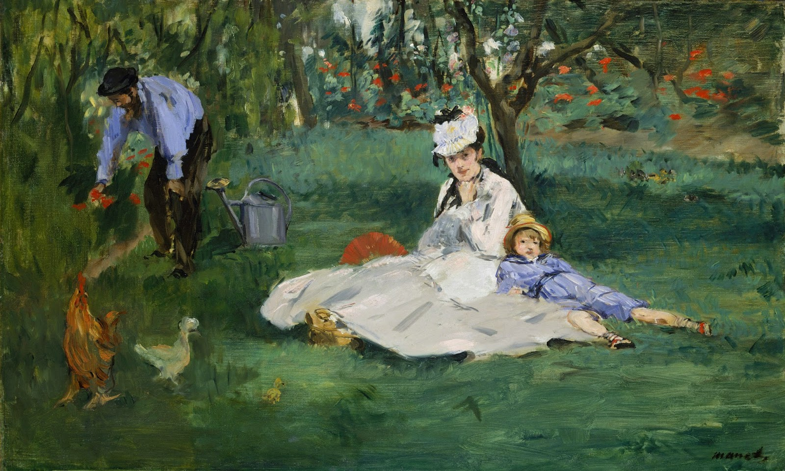 Édouard Manet, La familia Monet en su jardín de Argenteuil (1874), Metropolitan Museum, Nueva York