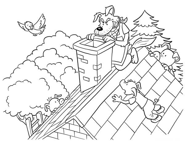 kumpulan Sketsa Buku Gambar Mewarnai Big Bad Wolf Terbaru