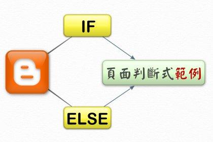 Blogger 頁面判斷語法__五個實用範例說明