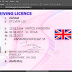 NEW UK DRIVER LICENSE TEMPLATE PSD