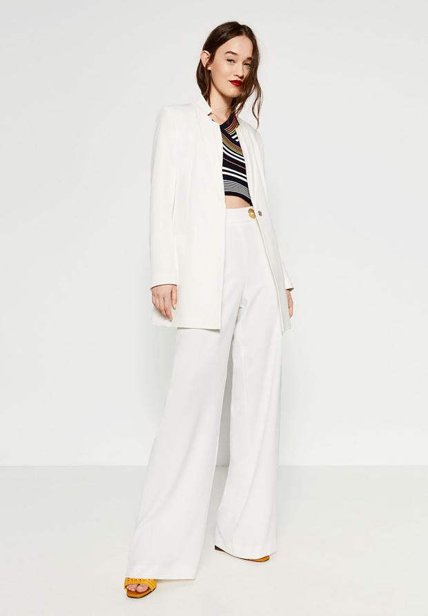 Zara traje sastre blanco