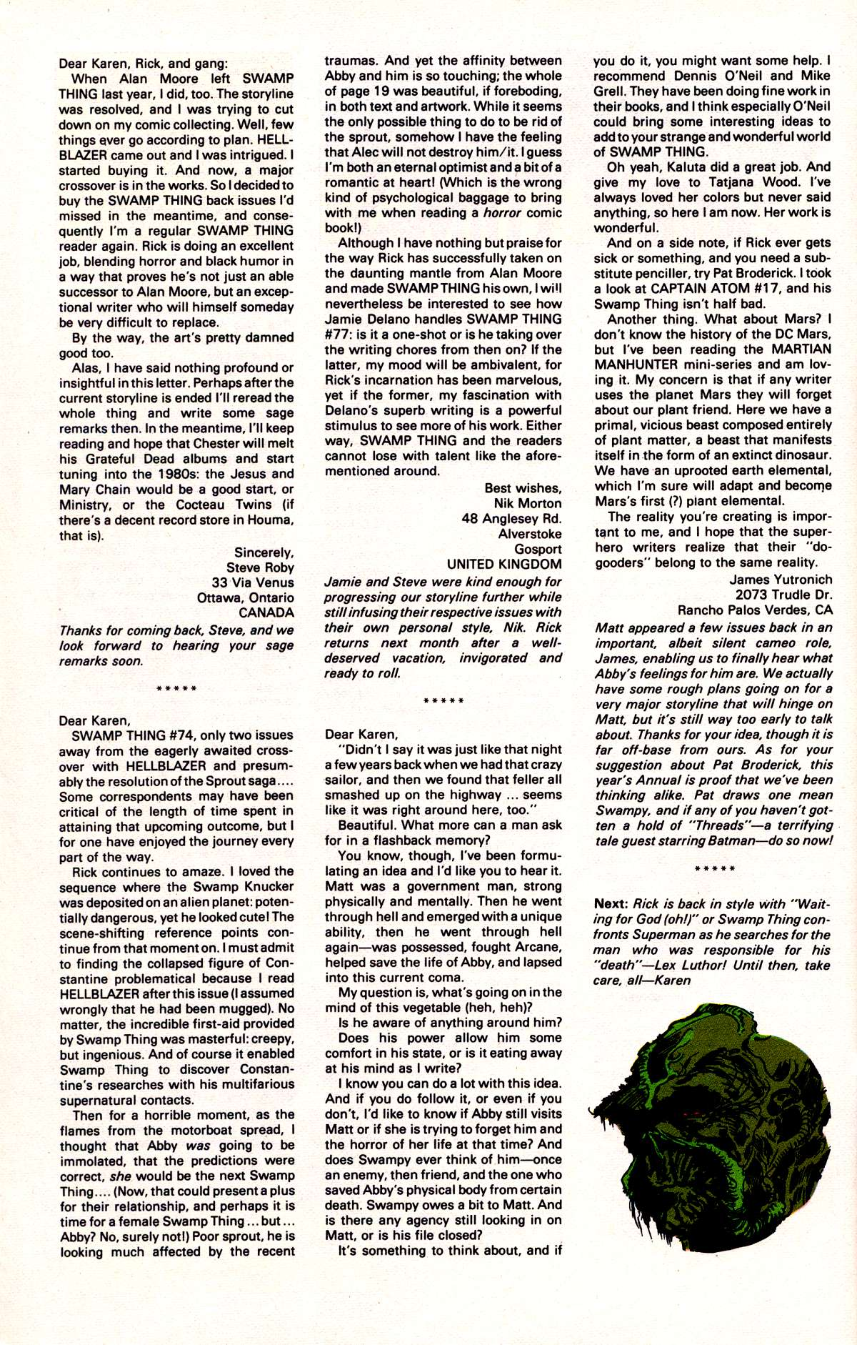 Swamp Thing (1982) Issue #78 #86 - English 27