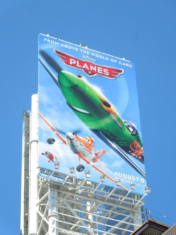 Disney Planes movie billboard
