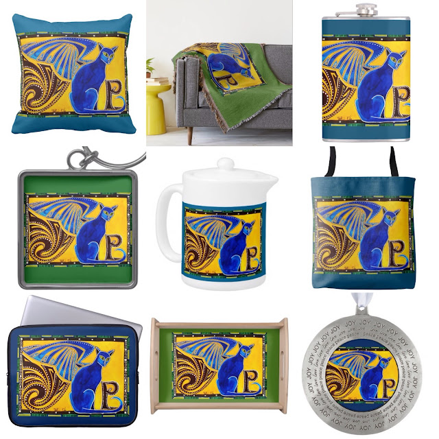 Winged Feline Collection by Cats of Karavella. Sphinx cat gifts for cat lovers
