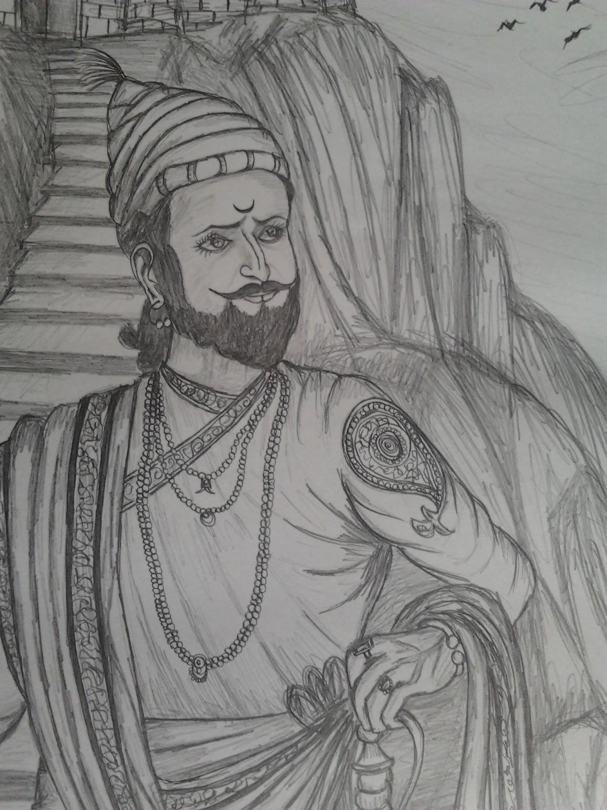 Chhatrapati shivaji maharaj sketches