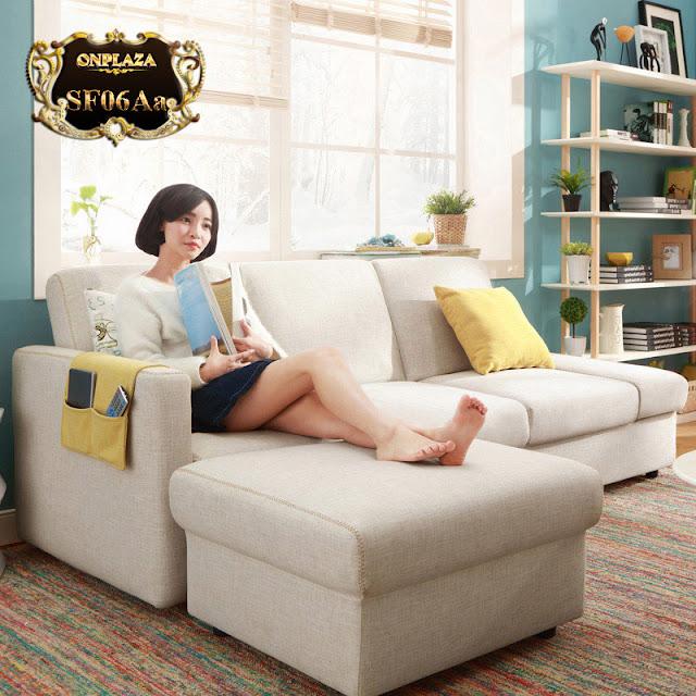 Bộ ghế sofa hiện đại 3 băng góc phải phong cách châu Âu