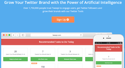 Tweepi social media management tool