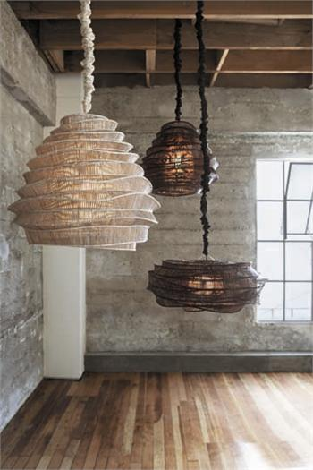 Moon To Moon Roost Bamboo Cloud Chandelier