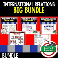 International Relations, Civics Mega Bundle, Government Mega Bundle, Civics and Government Curriculum, Anchor Charts, Games, Digital Interactive Notebook, Google Classroom, Word Wall, Choice Boards, Guided Notes, PowerPoints, Test Prep, Document Based Questions