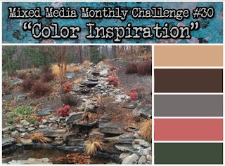 Colour challenge at Mixed Media Monthly