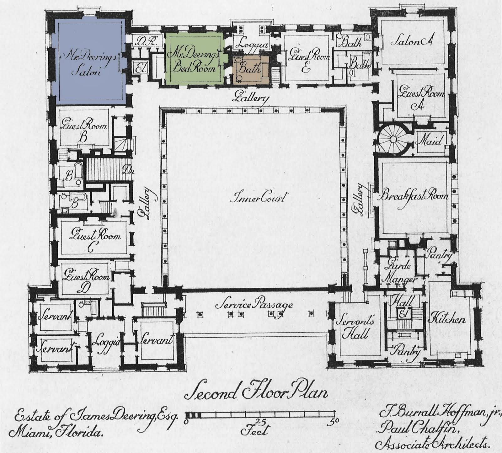 Art now and then villa vizcaya miami florida for Servant quarters designs