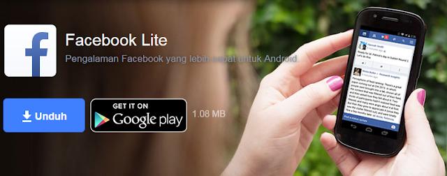 Download Aplikasi Facebook Lite Untuk Menghemat Kuota Internet Android