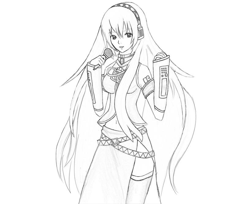 hatsune miku coloring pages - photo #29