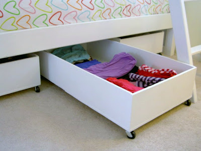 underbed storage bins for kids clothes
