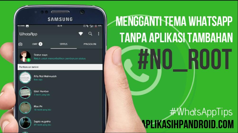 Cara mengganti tema di Whatsapp tanpa aplikasi no root 1