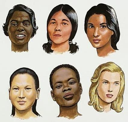 El grosor del cabello varía según la raza.