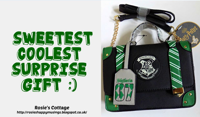 Harry Potter Slytherin Cross body Bag: The sweetest, coolest, surprise gift from my dear Hubby