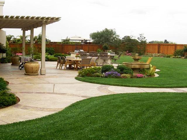 gambar tips menghias taman rumah dengan ukuran tanah yang luas