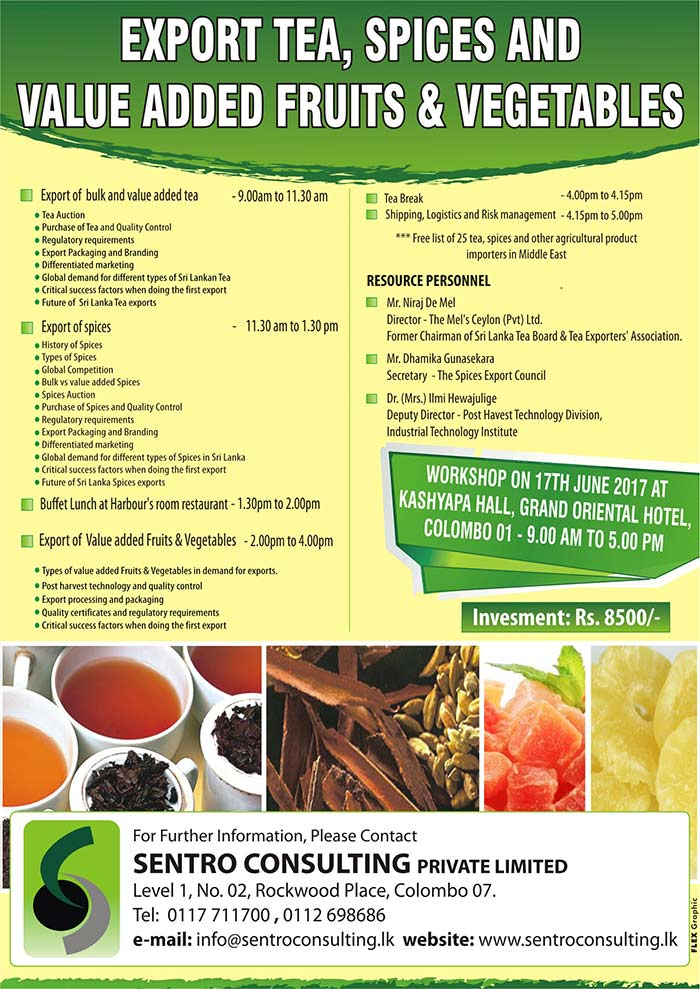 Export Tea Spices and Value Added Fruits & Vegetables