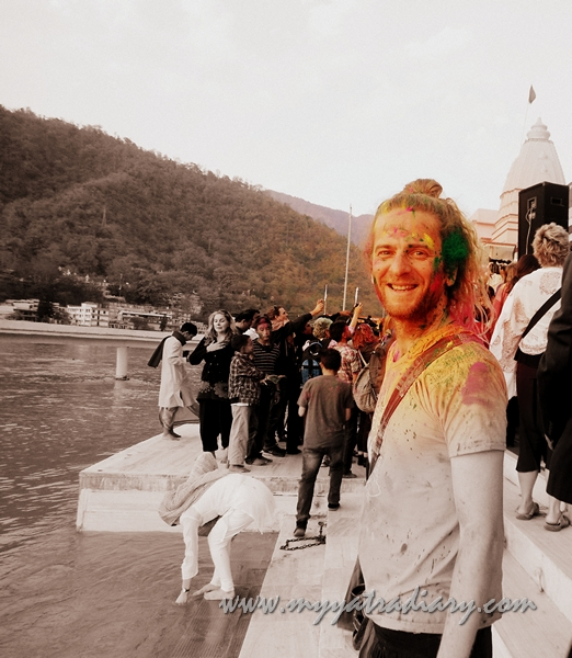 Celebrating Holi at Parmarth Niketan Ashram, Rishikesh