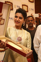 Samantha Ruth Prabhu in Cream Suit at Launch of NAC Jewelles Antique Exhibition 2.8.17 ~  Exclusive Celebrities Galleries 016.jpg
